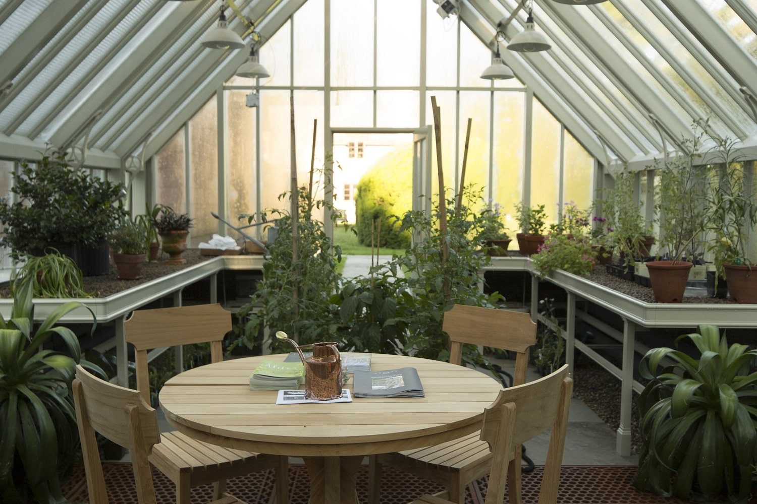 Seating inside an Alitex Greenhouse