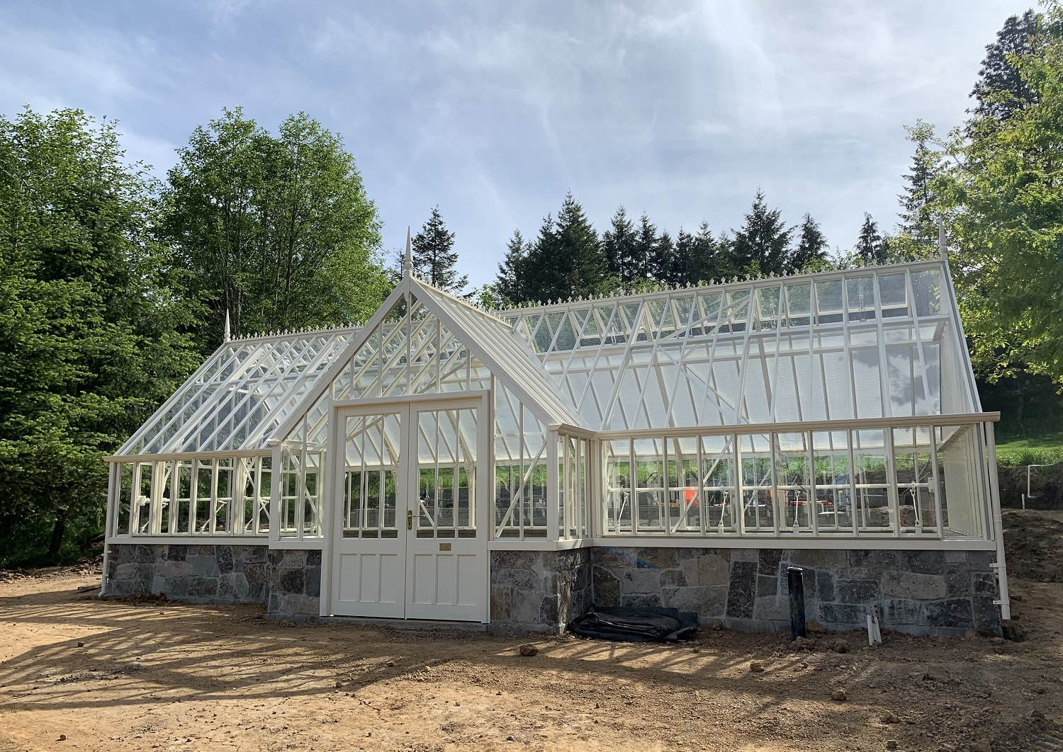 Large custom-made greenhouse