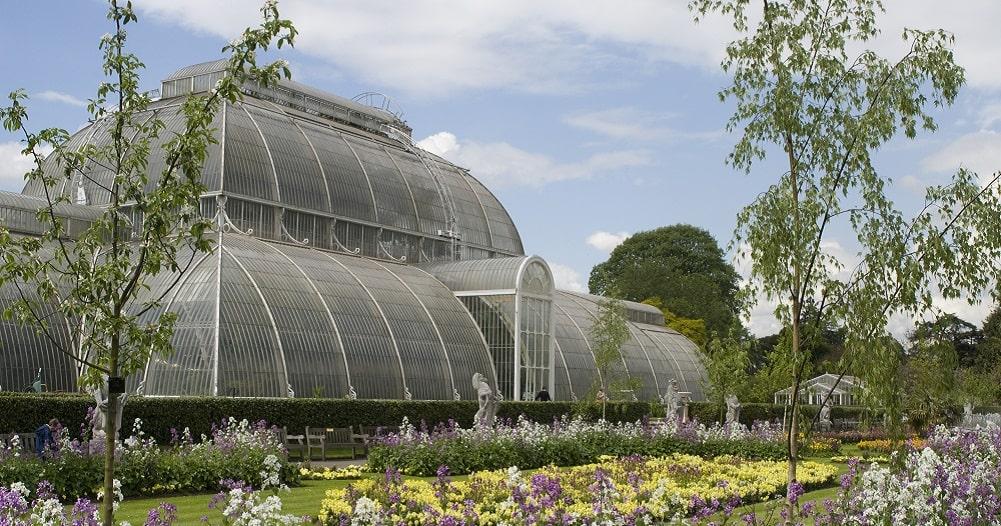 The glasshouse at Royal Botanic Gardens, Kew, UK